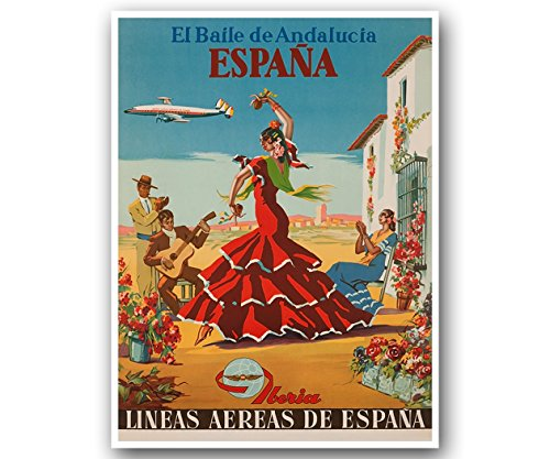 Spain Travel Poster Vintage Gift Office Art Retro Print Home Decor