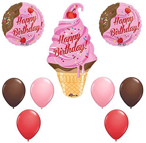 ice cream cone mylar balloon - 5