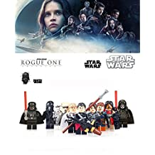 ABG toys 10 Minifigures STAR WARS Darth Nihilus, Dark Vador, Chirrut Imwe, Baze Malbus, Jyn Erzo, Orson Krennic, Cassian Andor, Imperial Hovertank Pilot, Imperial Shore Trooper, Imperial Death Trooper Building Blocks Sets Toy
