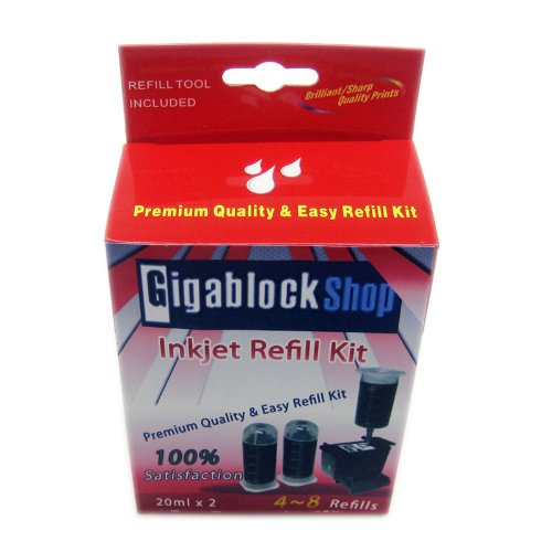 Gigablock Non OEM Black ink Refill Kit for Canon PIXMA iP4200 iP4500 MP500 MP800 MP950 MX700 MX850 Pritner