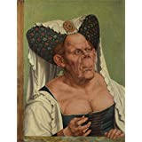 Perfect effect canvas ,the High Resolution Art Decorative Canvas Prints of oil painting 'Quinten Massys An Old Woman (The Ugly Duchess) ', 30 x 39 inch / 76 x 100 cm is best for Basement gallery art and Home decor and Gifts