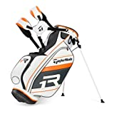 TaylorMade Apollo TMX Stand Bag, White/Gray/Orange