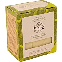Crate 61 Patchouli Lime Soap 3 pack, 100% Vegan Cold Process, scented with premium essential oils, for men and women…