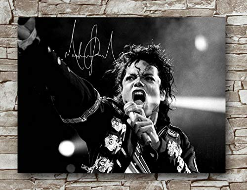 - Zero.o Michael Jackson Autographed Poster Standard Size | 18-Inches by 24-Inches | Michael Jackson Performance Posters Wall Poster Print