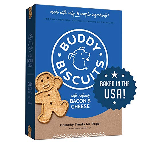 Buddy Biscuits Oven-Baked, Healthy Whole-Grain, Crunchy Treats for Dogs, 16oz