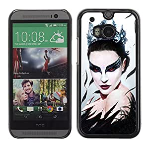 CaseLord Carcasa Funda Case - HTC One M8 / Black Swan Beautiful Ballerina /