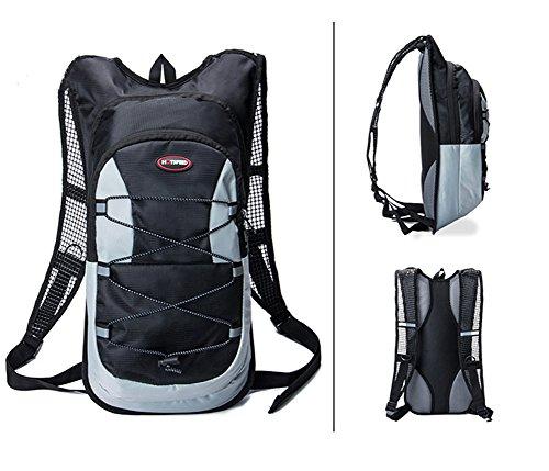 YiJee 12L Bolsa Mochila de Agua Hidratación para Bicicleta Excursión Negro