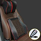 Lqqzq Cushion Advanced Waist Electric Massage Support Cushion and Neck Pillow are Suitable for Driving Travel. Suitable for Car Seats, Office Chairs, Etc Cushion (Color : B)