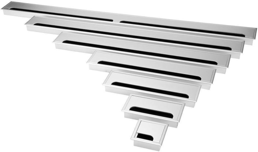 Exklusive 80mm Aluminium Kabeldurchf/ührung silber 80mm