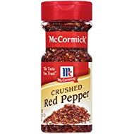 McCormick Crushed Red Pepper, 2.62 oz, Adds Fiery Heat to Pizza, Eggs, Salads, Pasta, Chili, Stews, Stir-Fry and More, Premium Quality and Fresh Flavor Guaranteed