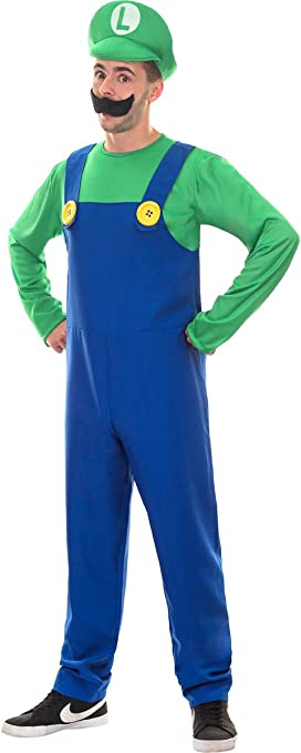 Escapade - Disfraz de Luigi Super Mario Bros Plumber L para Hombre ...