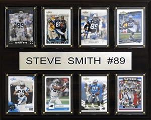 NFL Carolina Panthers Steve Smith 8 Card Plaque