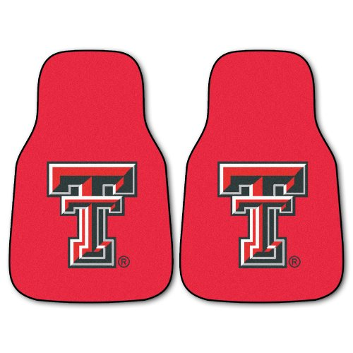 FANMATS NCAA Texas Tech University Red Raiders Nylon Face Carpet Car (Texas Tech Red Raiders Floor)