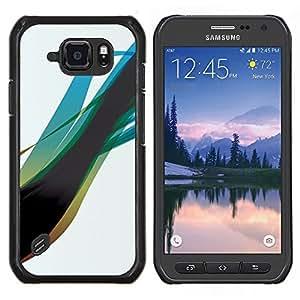 Blue Swirl- Metal de aluminio y de plástico duro Caja del teléfono - Negro - Samsung Galaxy S6 active / SM-G890 (NOT S6)