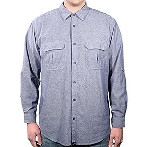 Men Base Camp Cotton Long Sleeve Button Down Shirt