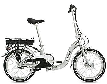 Eléctrico Holland bicicleta plegable Telsa 3-velocidades plata + ...