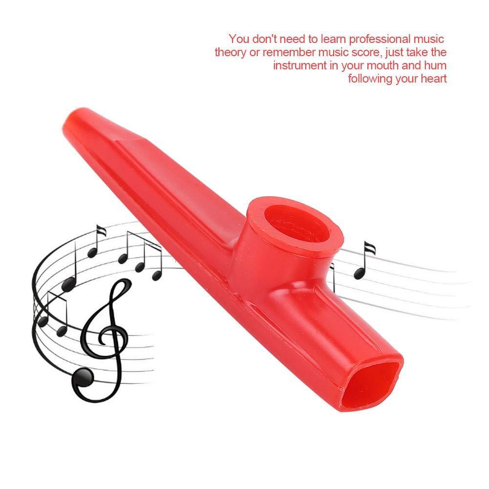 Kazoo Yellow RiToEasysports Plastic Mini Portable Flute Kazoo Ukulele Guitar Partner Easy to Learn Musical Instrument