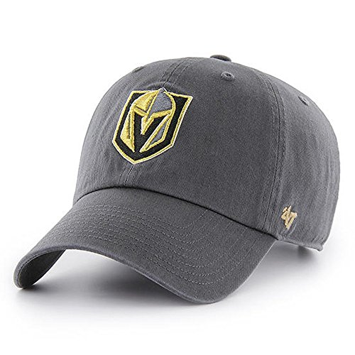 '47 NHL Las Vegas Golden Knights Clean Up Adjustable Hat, One Size, Charcoal