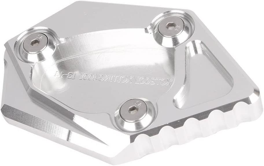 Nero Motociclo Cavalletto laterale estensibile Cavalletto laterale Ingrandisci pad prolunga per Kymco KXCT 300i//XCITING 400i//XCITING 400