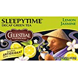 Celestial Seasonings Sleepytime Decaf Lemon Jasmine Green Tea, 20 Count (Pack of 6)