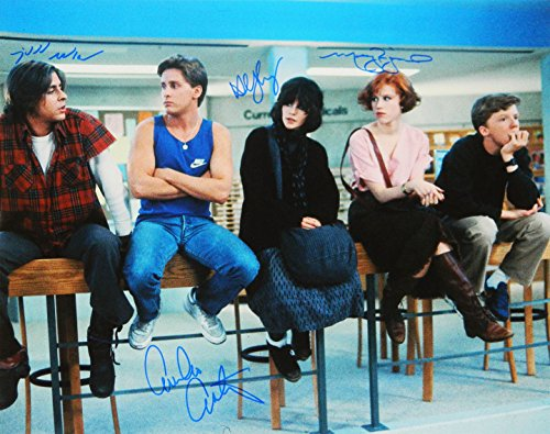 The Breakfast Club Cast Signed The Breakfast Club Cast Sitting On Chairs 16x20 Photo (Estevez, Ringwald, Nelson, Sheedy)