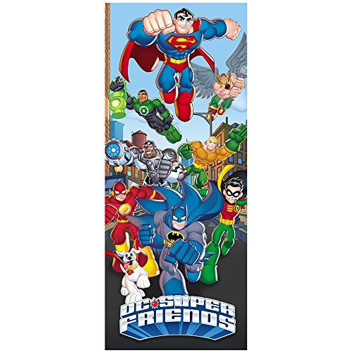 DC Super Friends Large Action Door or Wall Decal