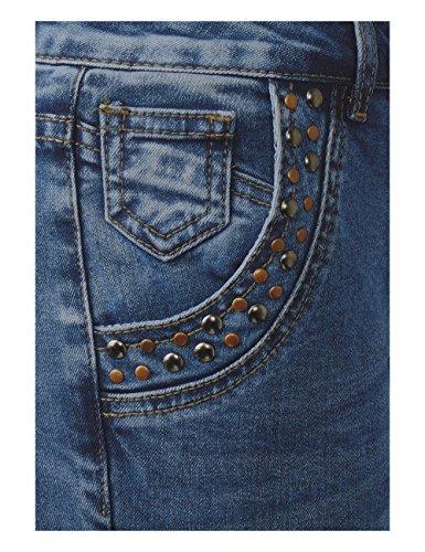 Blue Femme Street 11074 Authentic Blau Slim Wash Fancy One Jean Mid fqp06