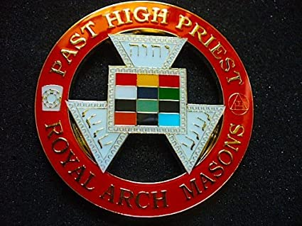 Delux Past High Priest Royal Arch Masons Heavy Alloy Car Emblem