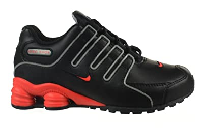 Nike Shox NZ SMS (PS) Preschool Kids  Shoes Black Bright Crimson- c608e19b5