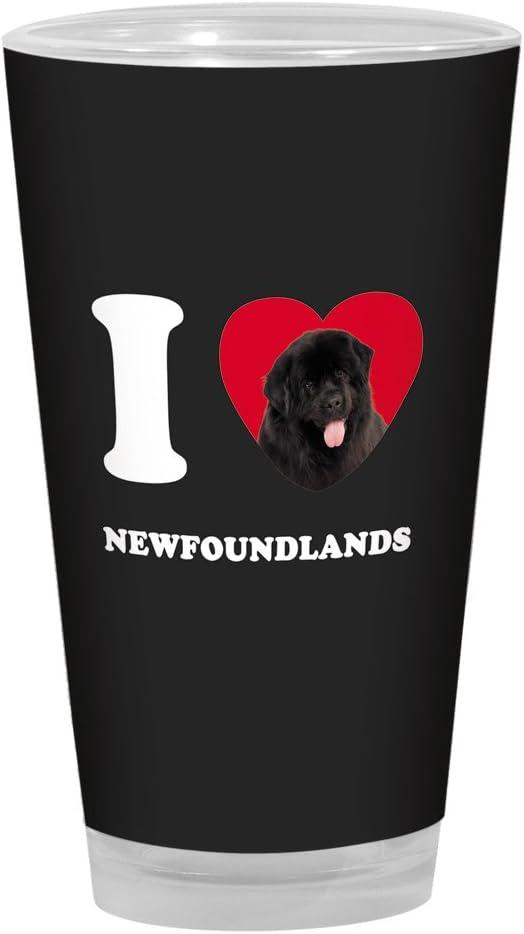 16-Ounce Tree-Free Greetings PG04091 I Heart Newfoundlands Artful Alehouse Pint Glass