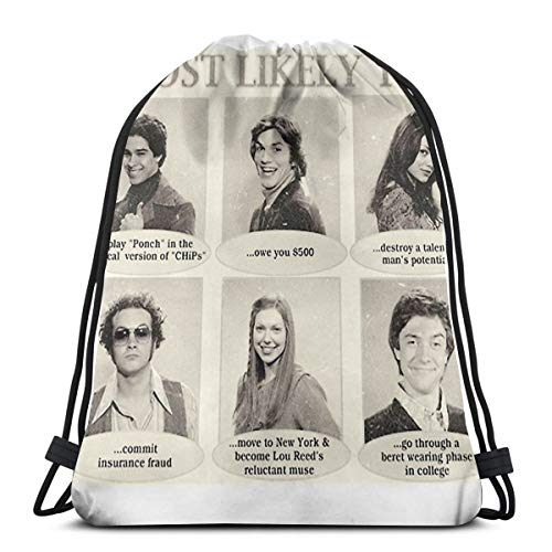 Ady That 70S Show Most Likely To. Yearbook Quotes Drawstring Bags Gym Bag