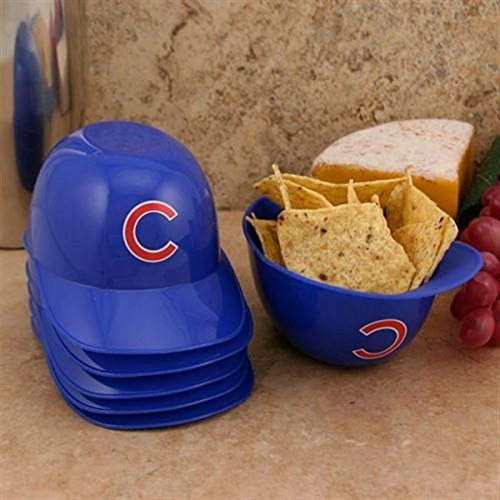 Chicago Cubs Official MLB 8oz Mini Baseball Helmet Ice Cream Snack Bowls (6) by Rawlings