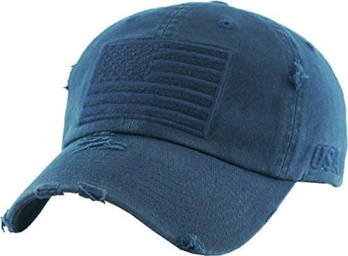 KBVT-209 NAV Tactical Operator with USA Flag Patch US Army Military Baseball Cap Adjustable