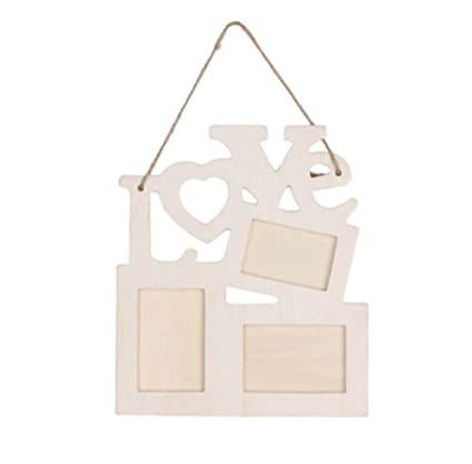 Amazon.com - Wood Photo Frames Unfinished Hanging Picture Frames ...