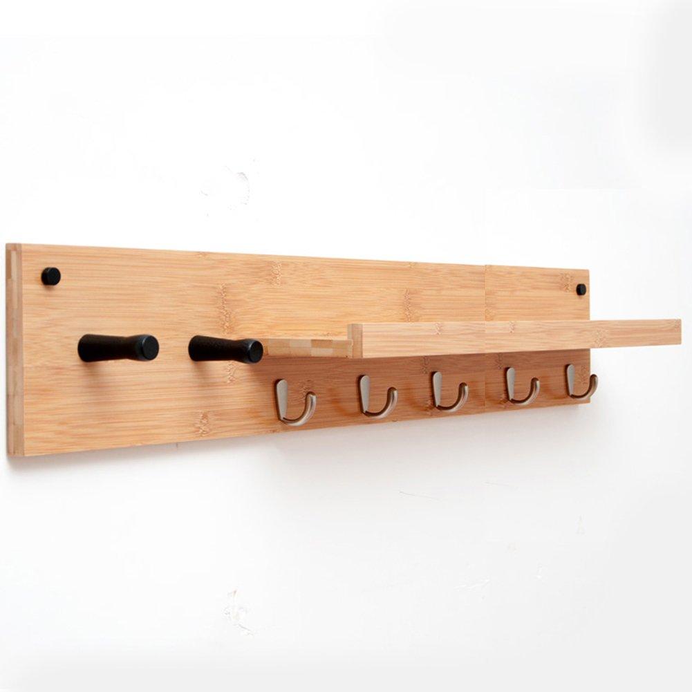 JIANFEI 壁掛けフック ウォールハンガー 多機能 ハンギング服 フックの追加 L型 棚 竹 ( サイズ さいず : 74*13*16cm ) B07BDJC4T3 74*13*16cm 74*13*16cm