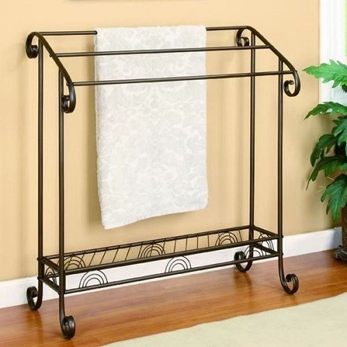 Periao Metal Scroll Design Towel/ Quilt Accent Rack ()