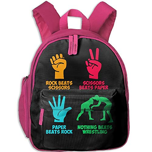 Mortimer Gilbert Rock Paper Nothing Beats Wrestling Kids School Bags Backpack Childrens' Bookbag by Mortimer Gilbert