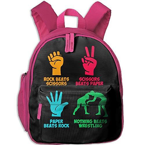 Mortimer Gilbert Rock Paper Nothing Beats Wrestling Kids School Bags Backpack Childrens' Bookbag by Mortimer Gilbert