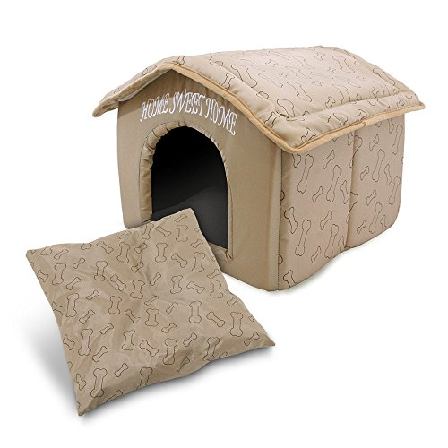 Best-Pet-Supplies-Home-Sweet-Home-Pet-House-with-Bones-Brown