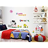 Fange DIY Removable Lovely Snoopy PVC Art Mural Vinyl Waterproof Wall Stickers Kids Room Decor Nursery Decal Sticker Wallpaper 27.5''x19.6''