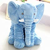 Meikong Elephant Plush Toy Pillow Elephant Cushion Doll Toy Gift Home Bed Room Decoration Child Gift Cute Kid Comfort Gift (Blue)