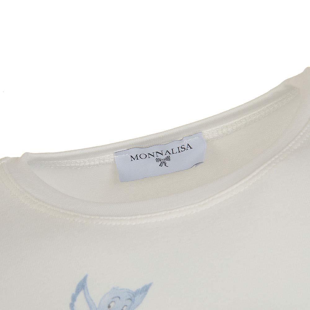 MONNALISA Bambina 112621SN Panna T-Shirt Inverno