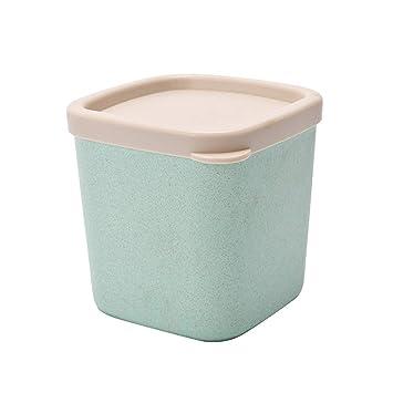 Yardwe - Cajas de Almacenamiento de plástico con Tapa para Frutas, Granos, Especias (Verde, tamaño Grande): Amazon.es: Hogar