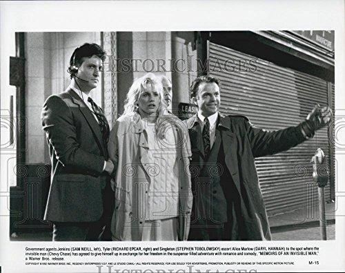 "1992 Jam Photo Richard Epcar, Sam Neill ""Memoirs of an Invisible Man"""