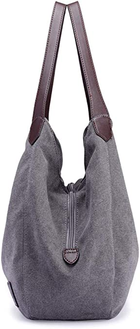 Mini Balbala Bolsos Mujer,Fanspack Bolso Bandolera Mujer de Lona Hobo Bag Bolsos de Crossbody Bolso Shopper Multifuncional