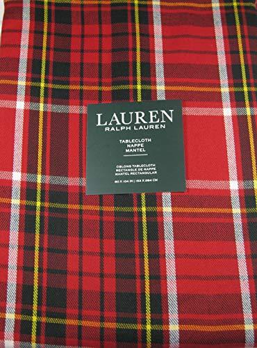 Ralph Lauren Gretchen Tartan Plaid Tablecloth Red 60 x 104