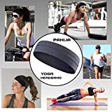 Non-Slip Yoga, Sport, Cooling Headbands That Can Absorb Sweat And Which Has A Very High Elasticity, Useful for Fitness, Gym, Great For Women And Men (Grey)