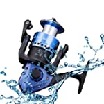 RGTOPONE Metal Perfect Spinning Fishing Reel 15+1 Double Bearings Professional Power Corrosion Resistance Reels Left Right Interchangeable High End Design Blue DG2000