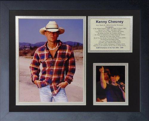 """Legenden Sterben Nie """"Kenny Chesney (II"""" gerahmtes Foto Collage, 11 x 35,6 cm von Legends Never Die"""