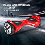 ORKAN Hoverboard Certified 2 Wheel Self Balancing Scooter w/ bright LED light 6.5'' UL2272 Electric Smart Scooter Red